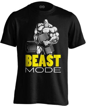 Beast Mode body building póló (fekete)