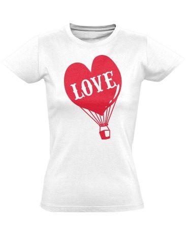 Love Balloon női póló (fehér)