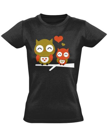 Owl's Love női póló (fekete)