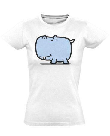 Cute Hippo női póló (fehér)