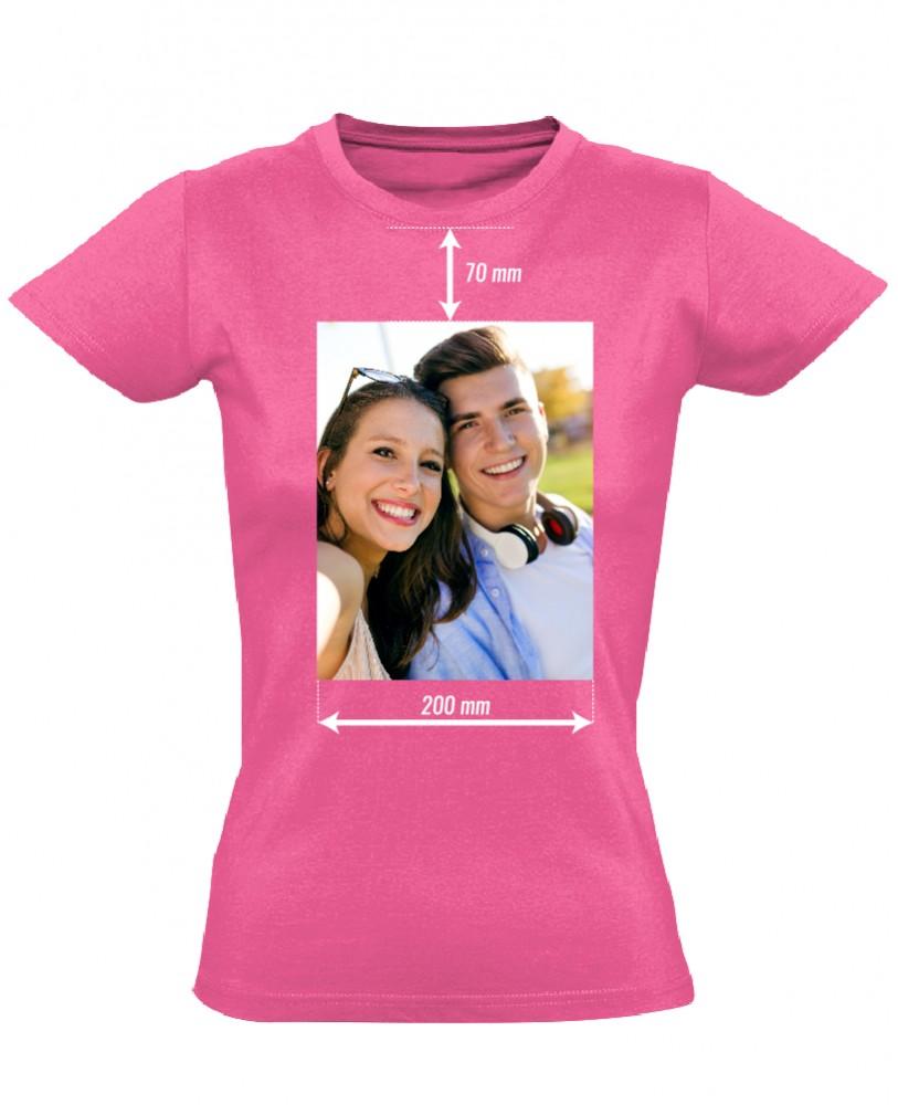 c7633d7a89 Egyedi fényképes női póló 20 cm széles képpel (rózsaszín) - PólóVerzum