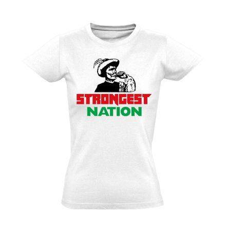 Strongest Nation női póló (fehér)