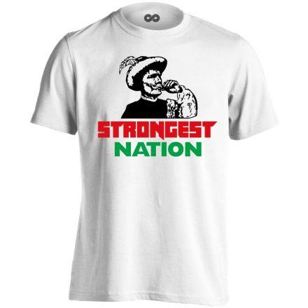Strongest Nation férfi póló (fehér)