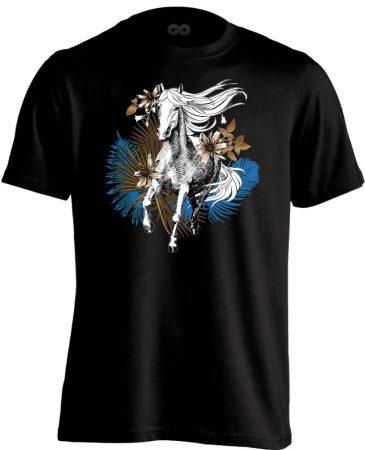 """Art """"pálma"""" lovas férfi póló (fekete)"""