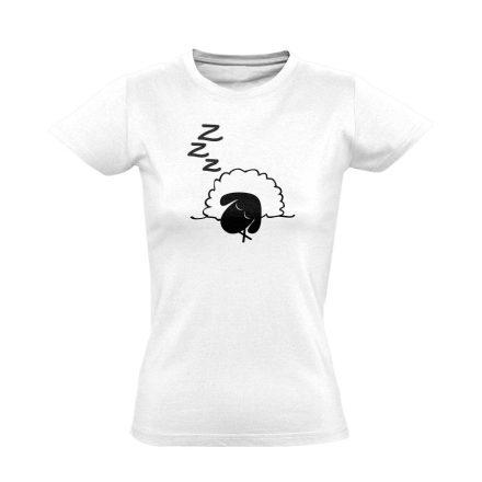 Szép Álmokat aneszteziológiai női póló (fehér)