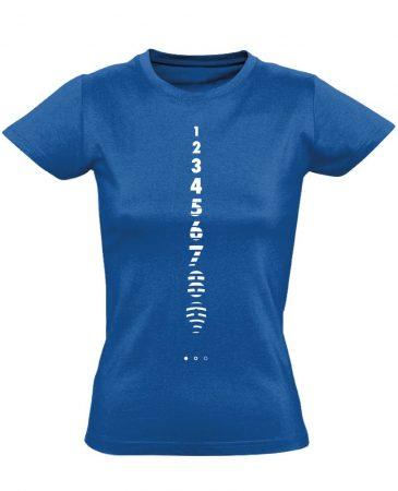 Számolj Tízig aneszteziológiai női póló (kék)