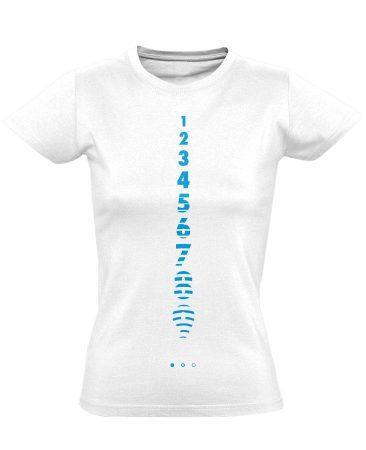 Számolj Tízig aneszteziológiai női póló (fehér)