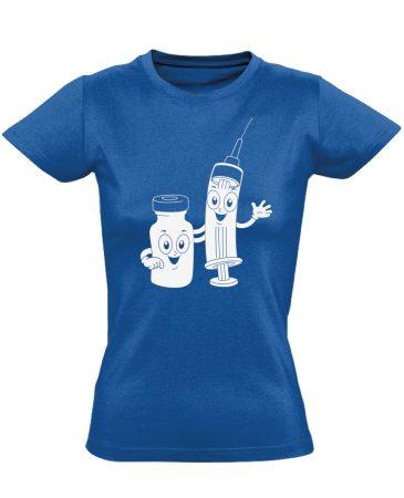 CukiSzuri aneszteziológiai női póló (kék)