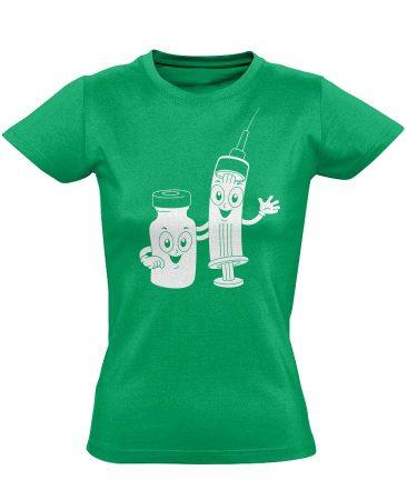 CukiSzuri aneszteziológiai női póló (zöld)