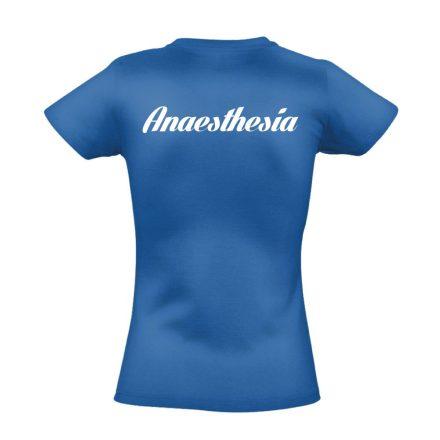 Aneszteziológia női póló (kék)