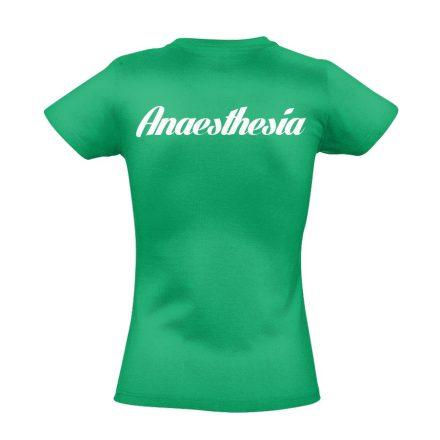 Aneszteziológia női póló (zöld)