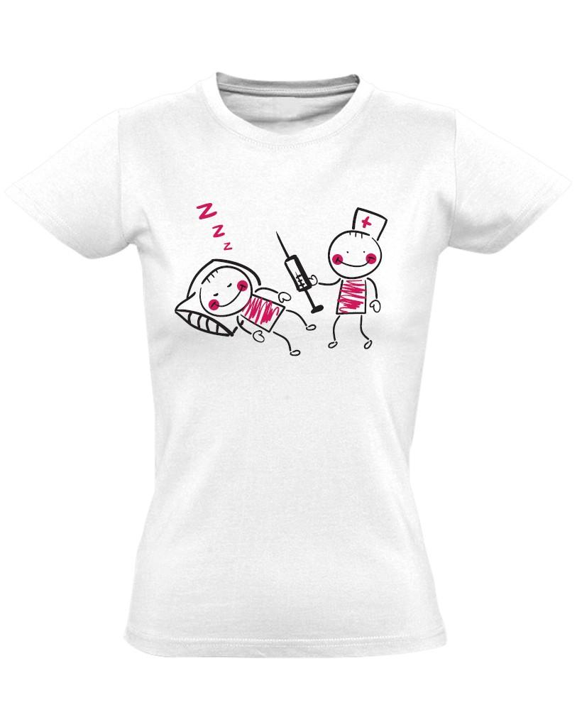 bd9da1820e AriNeszti aneszteziológiai női póló (fehér)