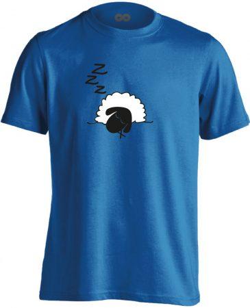 Szép Álmokat aneszteziológiai férfi póló (kék)