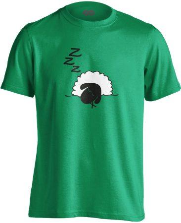 Szép Álmokat aneszteziológiai férfi póló (zöld)