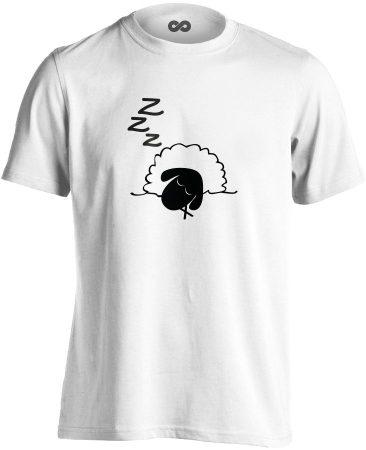 Szép Álmokat aneszteziológiai férfi póló (fehér)