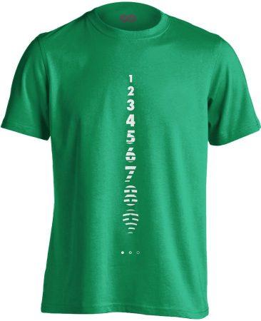 Számolj Tízig aneszteziológiai férfi póló (zöld)