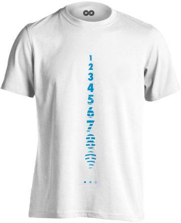 Számolj Tízig aneszteziológiai férfi póló (fehér)