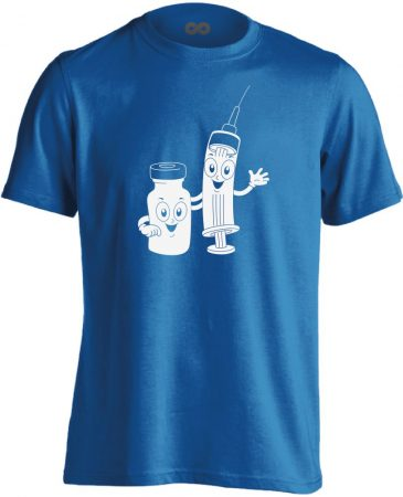 CukiSzuri aneszteziológiai férfi póló (kék)