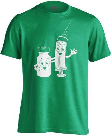 CukiSzuri aneszteziológiai férfi póló (zöld)