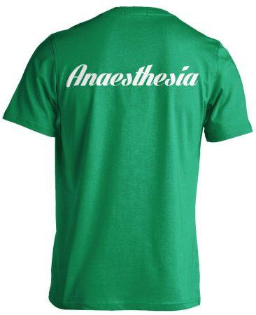 Aneszteziológia férfi póló (zöld)