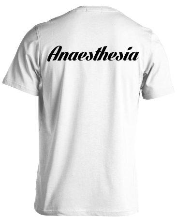 Aneszteziológia férfi póló (fehér)