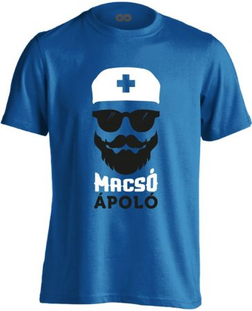 Macsó Ápoló férfi póló (kék)