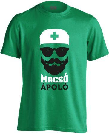 Macsó Ápoló férfi póló (zöld)