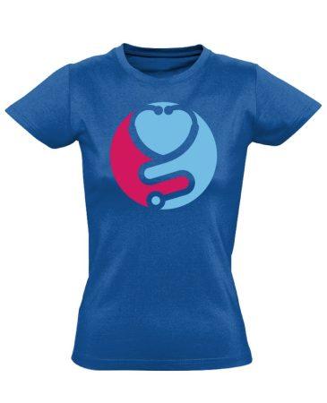 Zen asszisztens női póló (kék)