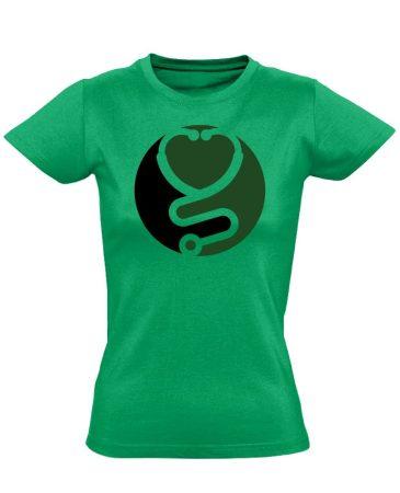 Zen asszisztens női póló (zöld)
