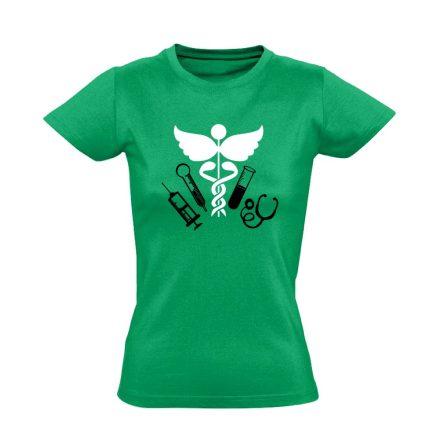 TűSzerÉsz asszisztens női póló (zöld)