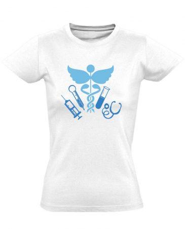 TűSzerÉsz asszisztens női póló (fehér)