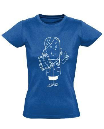 Tenci asszisztens női póló (kék)
