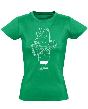Tenci asszisztens női póló (zöld)