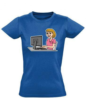 Pötyike asszisztens női póló (kék)