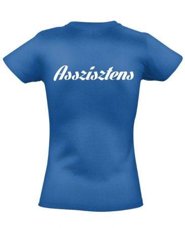Asszisztens női póló (kék)