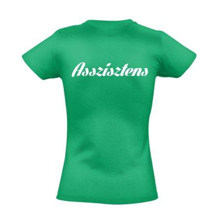 Asszisztens női póló (zöld)