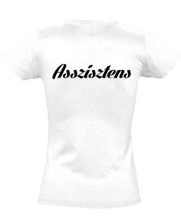 Asszisztens női póló (fehér)