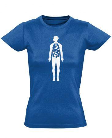 Bármi Ami Benn belgyógyászati női póló (kék)
