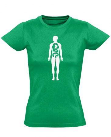 Bármi Ami Benn belgyógyászati női póló (zöld)