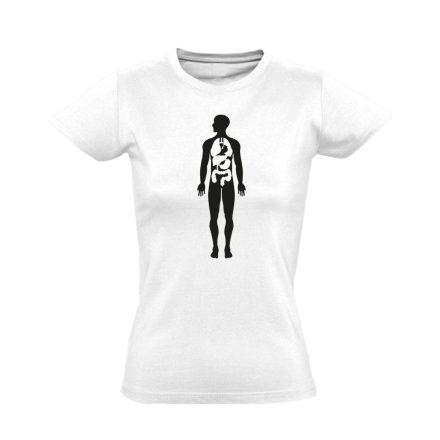 Bármi Ami Benn belgyógyászati női póló (fehér)