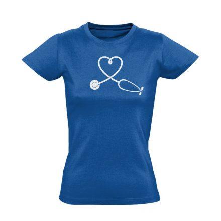 SzívHang belgyógyászati női póló (kék)