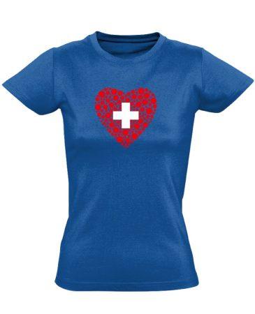 Szívügyem az Egészség belgyógyászati női póló (kék)
