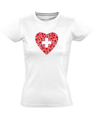 Szívügyem az Egészség belgyógyászati női póló (fehér)