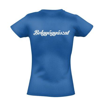 Belgyógyászat női póló (kék)