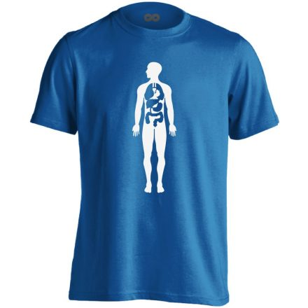 Bármi Ami Benn belgyógyászati férfi póló (kék)
