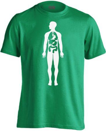 Bármi Ami Benn belgyógyászati férfi póló (zöld)
