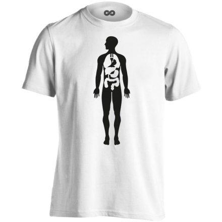 Bármi Ami Benn belgyógyászati férfi póló (fehér)