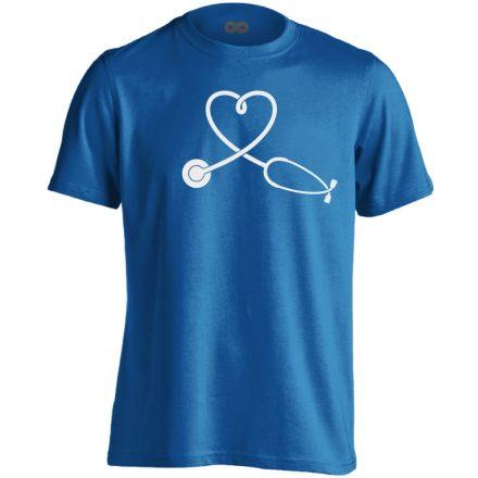SzívHang belgyógyászati férfi póló (kék)