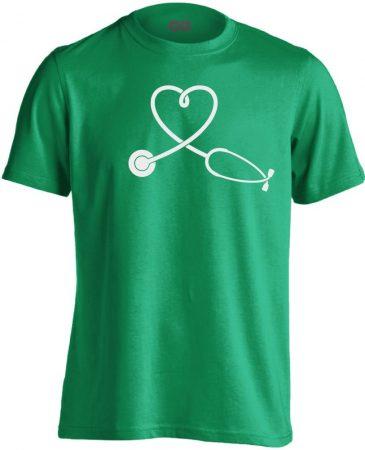 SzívHang belgyógyászati férfi póló (zöld)