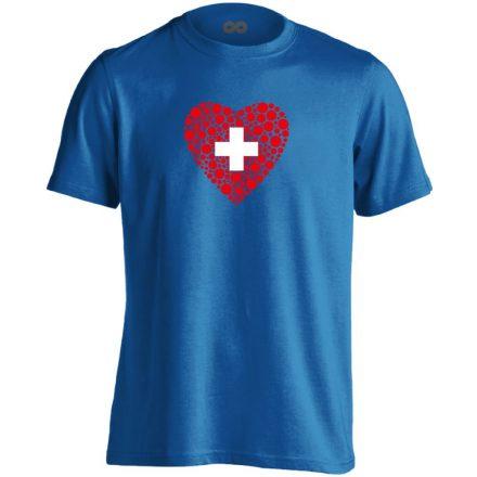 Szívügyem az Egészség belgyógyászati férfi póló (kék)